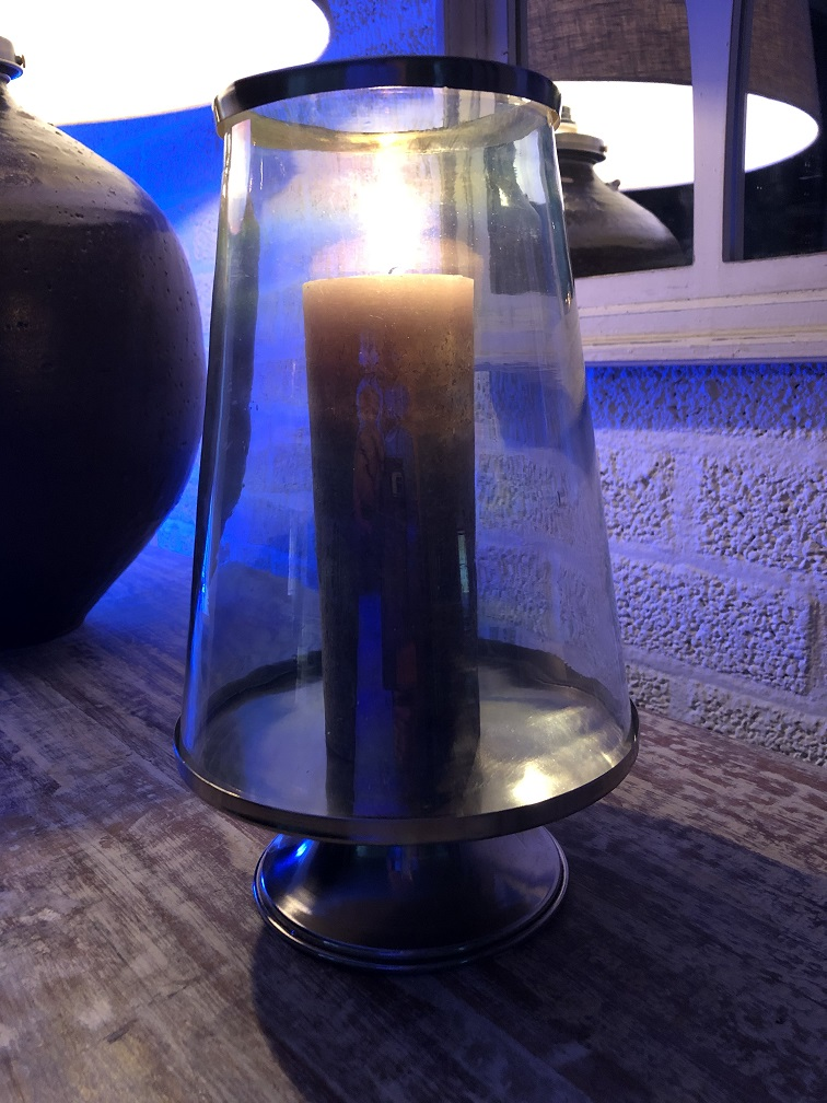 Antieke Glazen Kandelaars.Prachtige Grote Glazen Kandelaar Windlicht Met Nikkelen Afzettingen En Jd Lifestyle Eu
